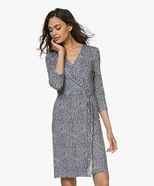 Belluna Pacino Printed Jersey Dress - Blue