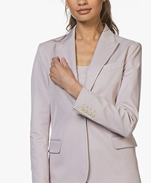 Filippa K Sasha Cotton Blend Twill Blazer - Frosty Pink