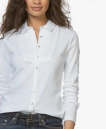 Belluna Parks Jersey Blouse - White