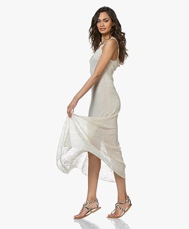 Fine Edge Duo-knit Maxi Dress - Cream