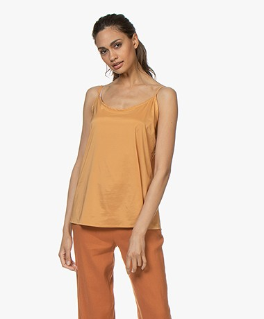 Woman by Earn Ada Satin Spaghetti Top - Burnt Orange