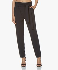 Woman by Earn Maddy Crêpe Paperbag Pantalon - Navy