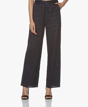 Marie Sixtine Lexie Striped Linen Blend Pants - Sailor