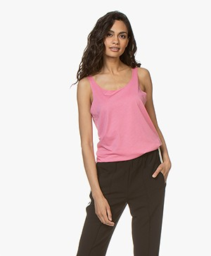 Repeat Lyocell Blend Tank Top - Pink