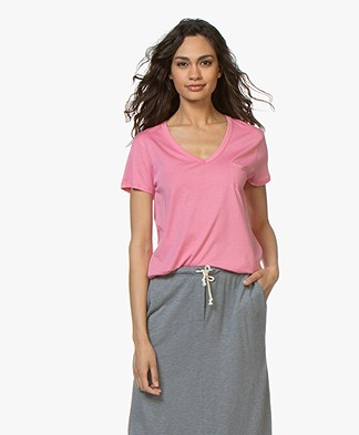Repeat Lyocell V-neck T-shirt - Pink