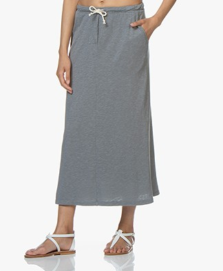 American Vintage Covibird Jersey Midi Skirt - Vintage Cloudy