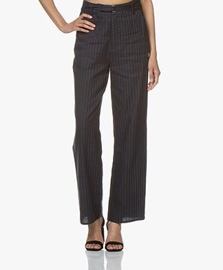 Marie Sixtine Lexie Striped Linen Blend Pants - Sailor