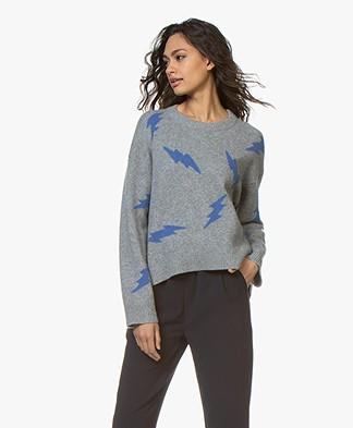 Zadig & Voltaire Markus Cashmere Jacquard Sweater - Grey Melange