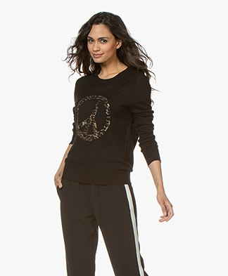 Zadig & Voltaire Miss CP Sweater with Strass - Black