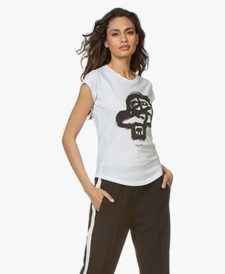 Zadig & Voltaire Skinny Skull Print T-shirt - Wit