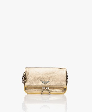 Zadig & Voltaire Rocky Nano Metal Clutch/Schoudler Bag - Gold