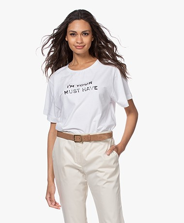 Majestic Filatures Cindy Bruna Musthave T-shirt - Wit