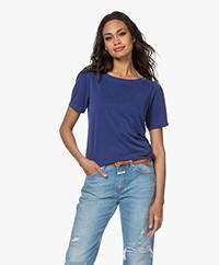 Plein Publique La Poppy Modalmix Piqué T-shirt - Cobalt
