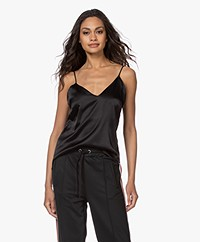 ANINE BING Gwyneth Slim Camisole in Silk - Black
