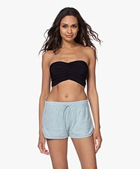Norma Kamali Crepe Jersey Bandeau Top - Midnight