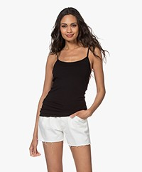 Closed Katoenen Jersey Basic Top - Zwart