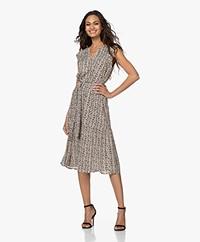 indi & cold Printed Viscose Midi Dress - Tapioca