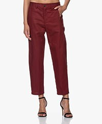 Closed Ludwig Lyocell Mix Pantalon - Raisin