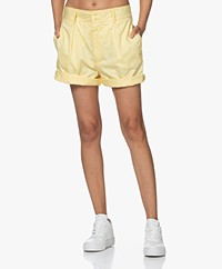 Closed John Wide Pleated Shorts - Mellow Yellow