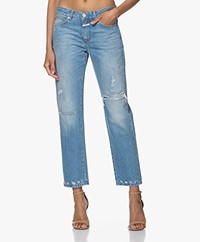 Closed Jay Destroyed Straight Jeans - Mid Blue