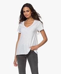 American Vintage Jacksonville V-neck T-shirt - White