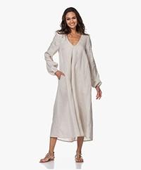 Resort Finest Franca Linen A-line Dress - Warm Sand