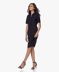 JapanTKY Phyn Travel Jersey Polo Dress - Black Blue
