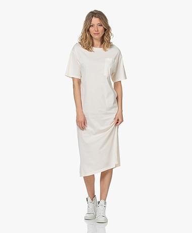Drykorn Takena Garment Dyed Jersey T-shirtjurk - Papyrus