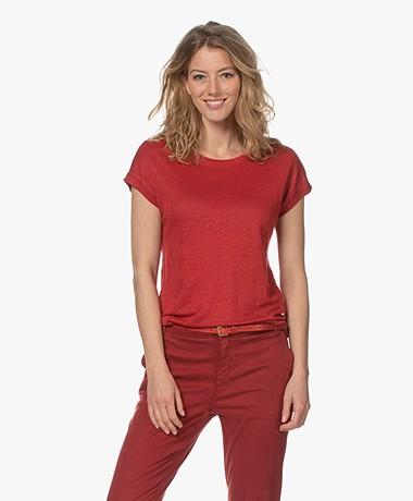 MKT Studio Tadour Linen T-shirt - Rust