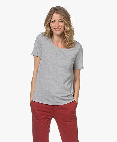 Repeat Jersey Lyocell Blend T-shirt - Grey