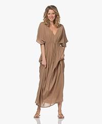 by-bar Crinkled Cotton Maxi Dress - Dry Khaki