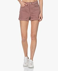 Rag & Bone Maya High-Rise Shorty Short - Light Plum
