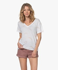 Rails The Cara Linen Glitter Print T-shirt - Golden Cheetah