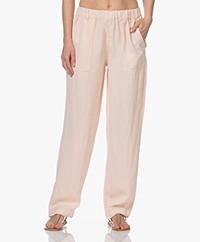 MKT Studio Piscou Linen-Tencel Pants - Nude