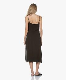 Denham Monica Cupro Blend Slip Dress - Black