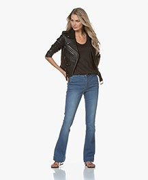 BY-BAR Leila Flared Stretch Jeans - Light Denim