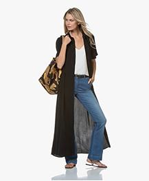 Denham Roxanne Cupro Blend Maxi Shirt Dress - Black