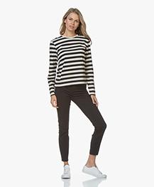 Filippa K Long Sleeve Striped T-shirt - Navy/Ivory
