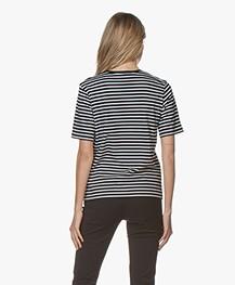 Filippa K Organic Cotton Striped T-shirt - Navy/White