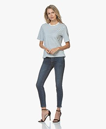 Current/Elliott The Stiletto Skinny Jeans - Blue 1 Year Worn