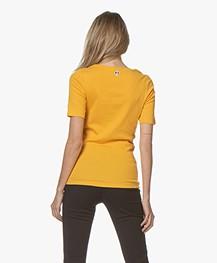La Petite Française Toinette Print T-shirt - Safran