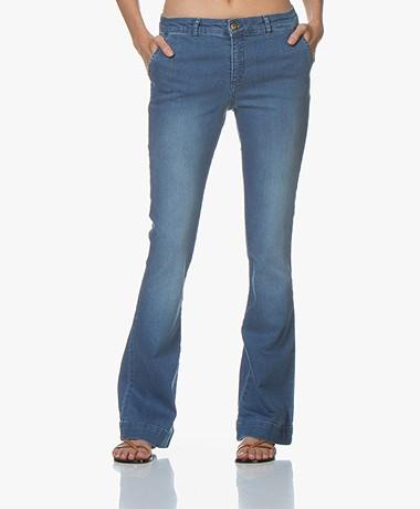 BY-BAR Leila Flared Stretch Jeans - Light Denim