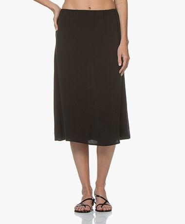 Denham Venice Cupro Blend Skirt - Black