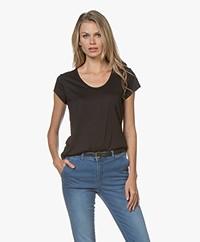 Denham Pacific Modalmix T-shirt - Zwart