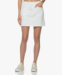Denham Pearl Denim Skirt - Ecru