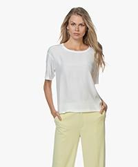 Denham Canyon Mixed Media T-shirt - Off-white