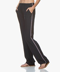 Filippa K Soft Sport Stripe Twill Pants - Navy