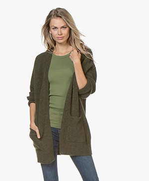 By Malene Birger Ursula Open Alpacamix Vest - Olive Night