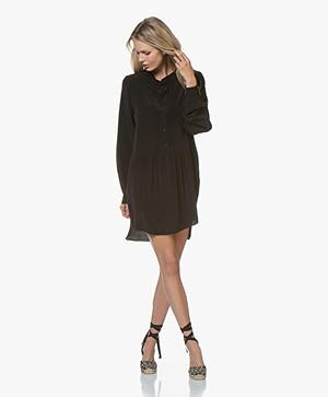 Denham Sylvie Cupro Blend Tunic Dress - Black