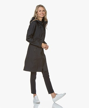 Ilse Jacobsen Long Softshell Raincoat Rain37L - Dark Indigo